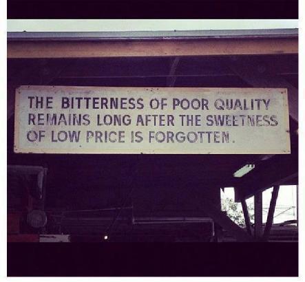Quality vs. Cost